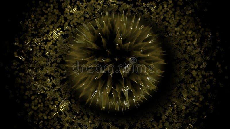 Żółty kwiat Na wodzie zdjęcie stock