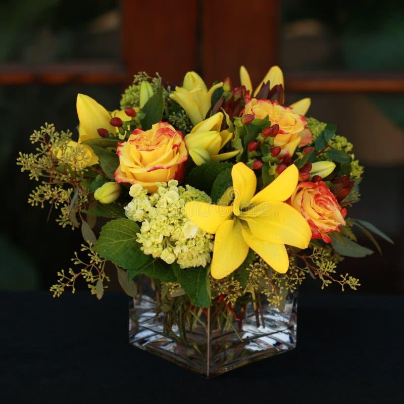 Żółty kwiatu przygotowania zdjęcia royalty free
