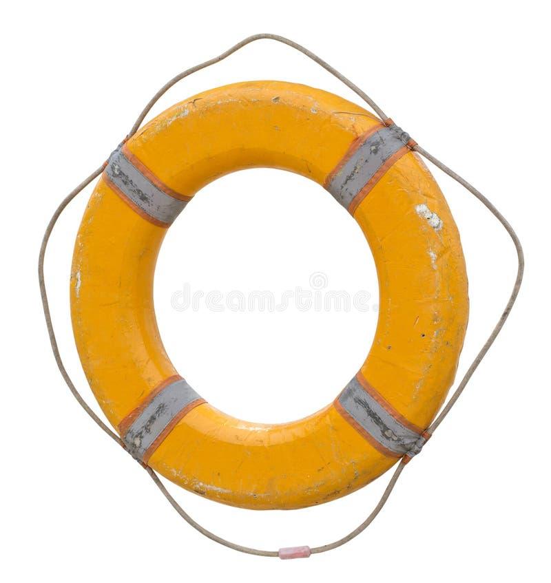 Żółty lifebelt z arkaną Odosobniony przedmiot obraz stock