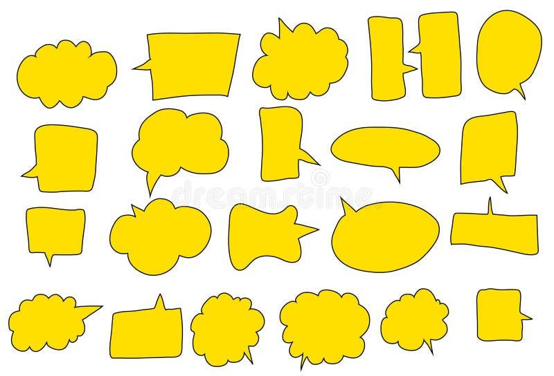 Żółty mowa bąbel w różnicy ostrzu ilustracja wektor
