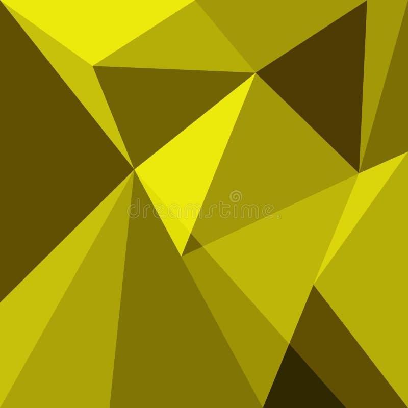 Żółty niski poli- projekta elementu tło ilustracji