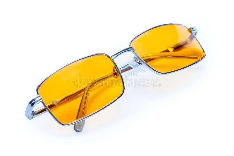 Żółty nocy szkieł eyewear zdjęcie stock