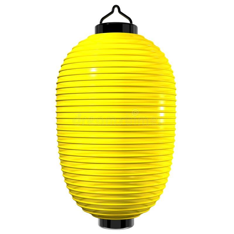 Żółty Papierowy lampion ilustracja wektor