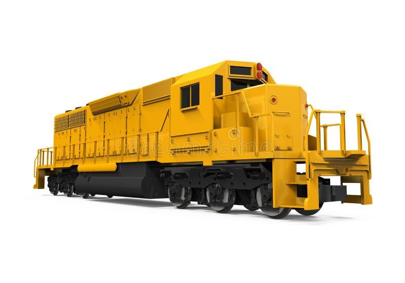 Żółty pociągu towarowego royalty ilustracja