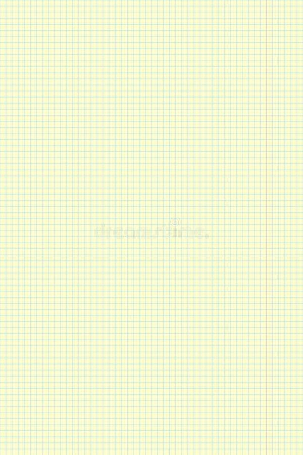 Żółty prześcieradło papier szkoły notatnika vertical tło royalty ilustracja