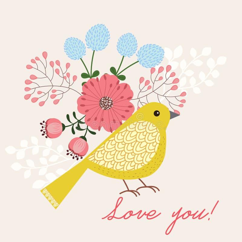 Żółty ptak ilustracji