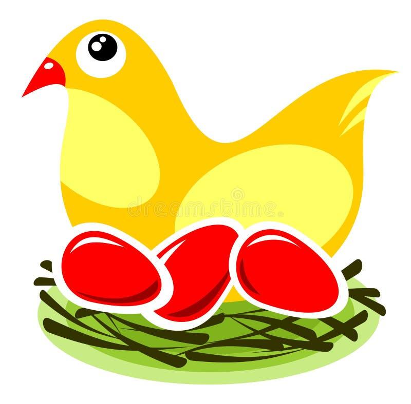 Ptak z jajkami ilustracja wektor