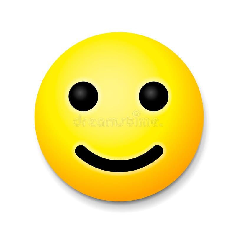 Żółty roześmiany szczęśliwy uśmiech, emoji uśmiechu symbol royalty ilustracja