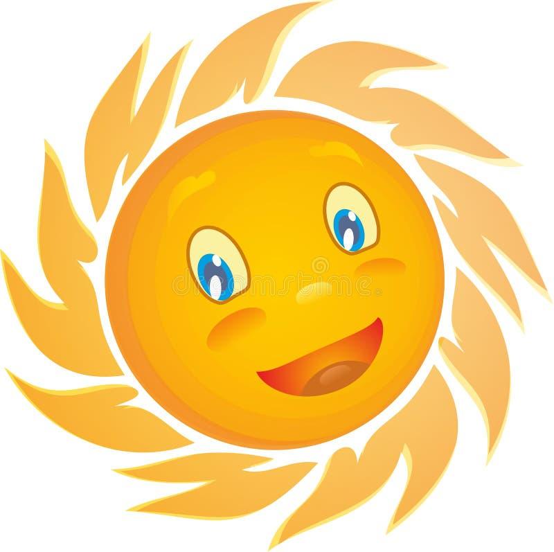 Żółty słońce bielu tło zdjęcie stock