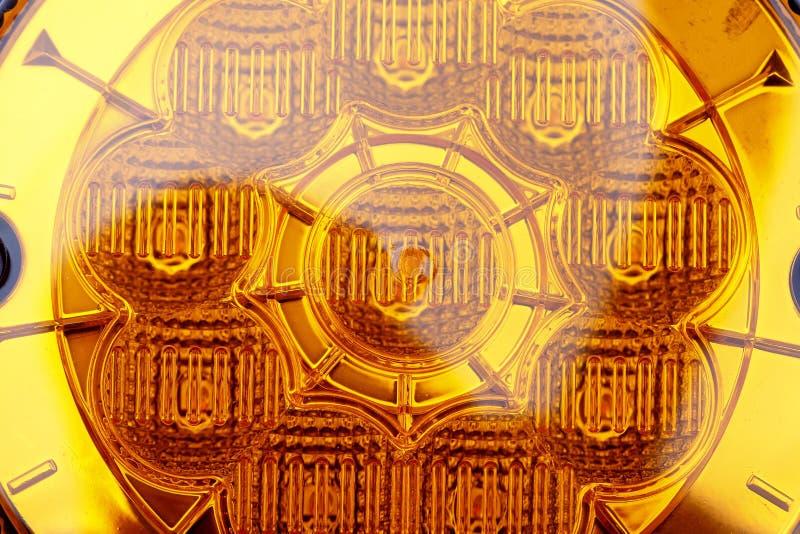 Żółty samochodowy reflektor zdjęcie stock