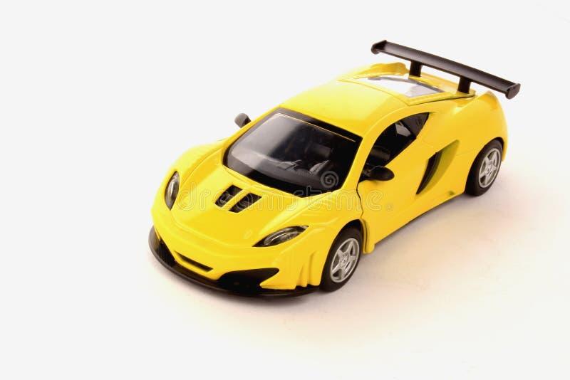 Żółty sportowy samochód zdjęcie stock