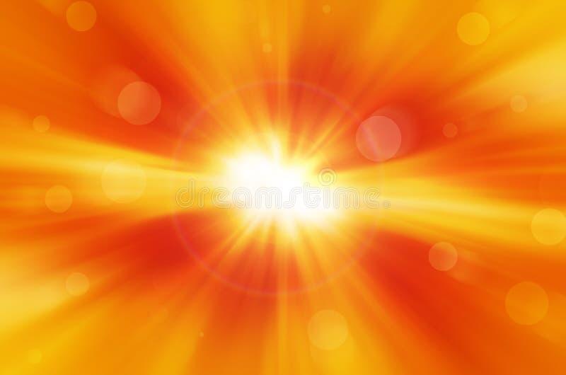 Download Żółty tło z obiektywu racą ilustracji. Ilustracja złożonej z abstrakt - 53780380