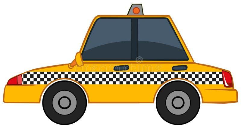 Żółty taxi na białym tle ilustracji