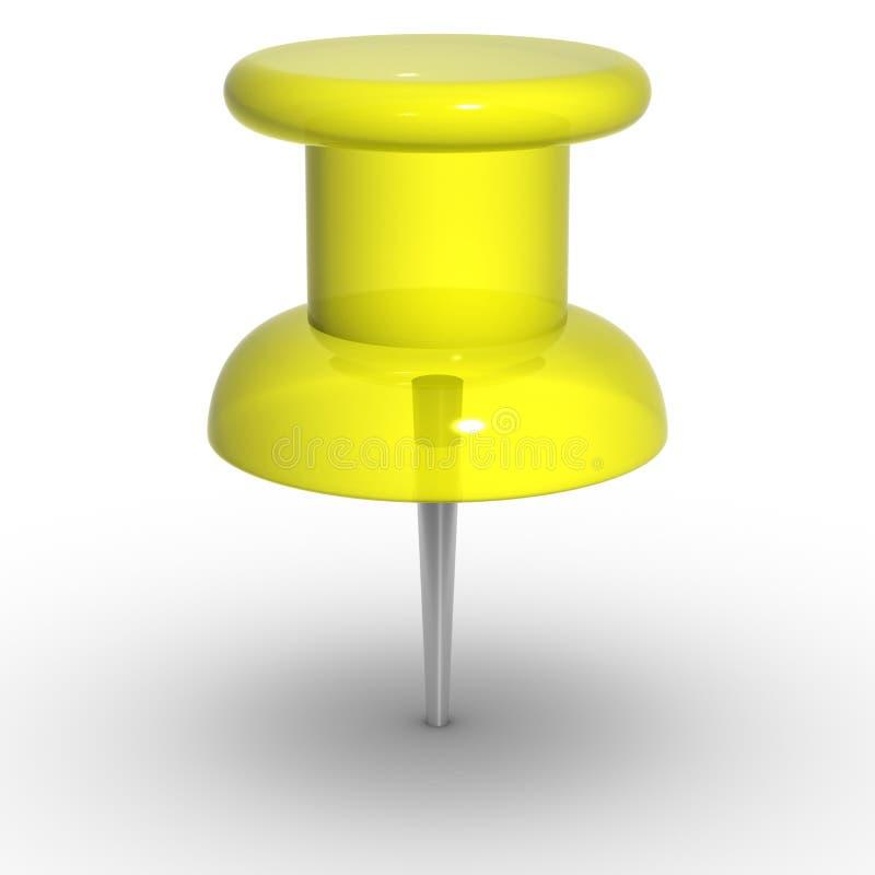 Żółty thumbtack fotografia stock