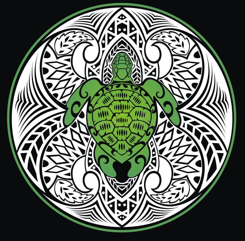 Żółw w plemiennym stylu royalty ilustracja