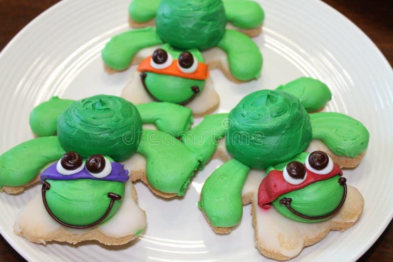 Żółwi ciastka zdjęcie stock
