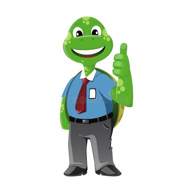 Download Żółwia Biznesowy mężczyzna ilustracji. Ilustracja złożonej z charakter - 53780387