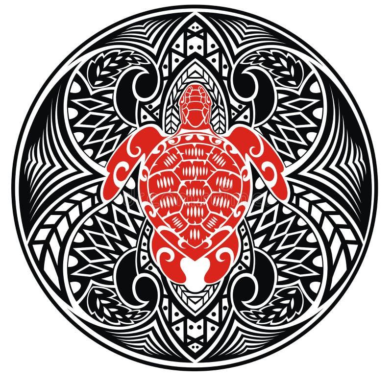 Żółwia tatuaż royalty ilustracja