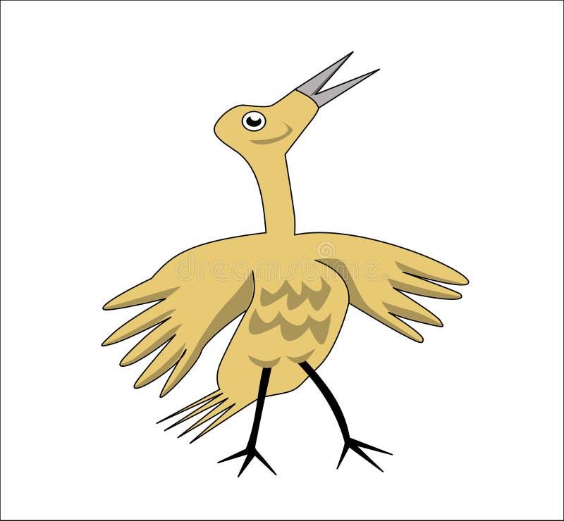 Download Żółty dziecko ptak ilustracji. Ilustracja złożonej z niezrównoważenie - 57672507