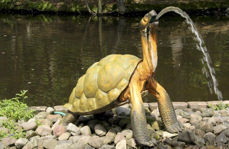 Download Żółw fontanna zdjęcie stock. Obraz złożonej z żółw, woda - 57659714