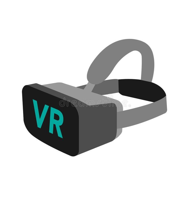 Óculos de proteção da realidade virtual VR ilustração do vetor