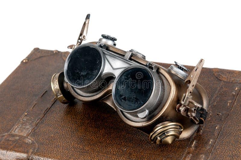 Óculos de proteção de Steampunk fotos de stock royalty free