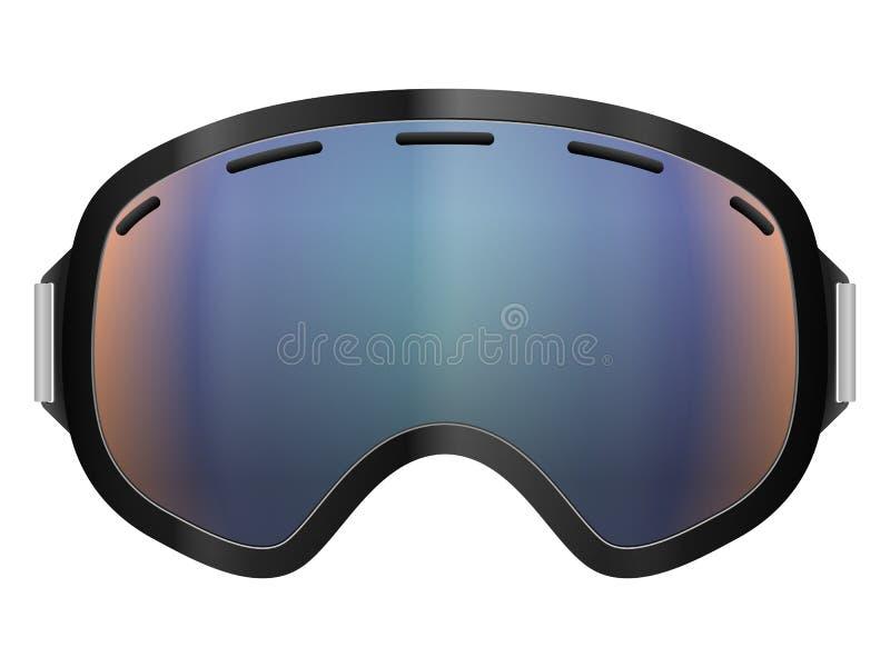 Óculos de proteção do esqui ilustração stock