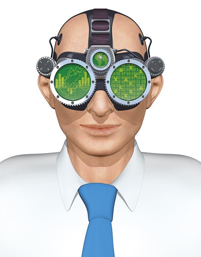 Óculos de proteção do negócio ilustração royalty free