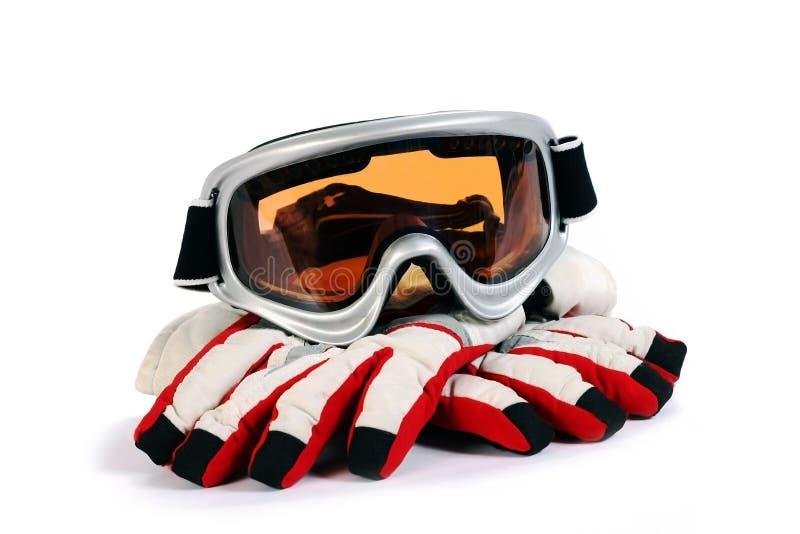 Óculos de proteção do snowboard do esqui fotos de stock