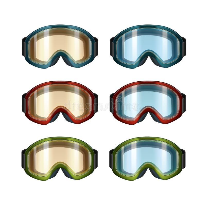 Óculos de proteção do snowboard do esqui ilustração do vetor