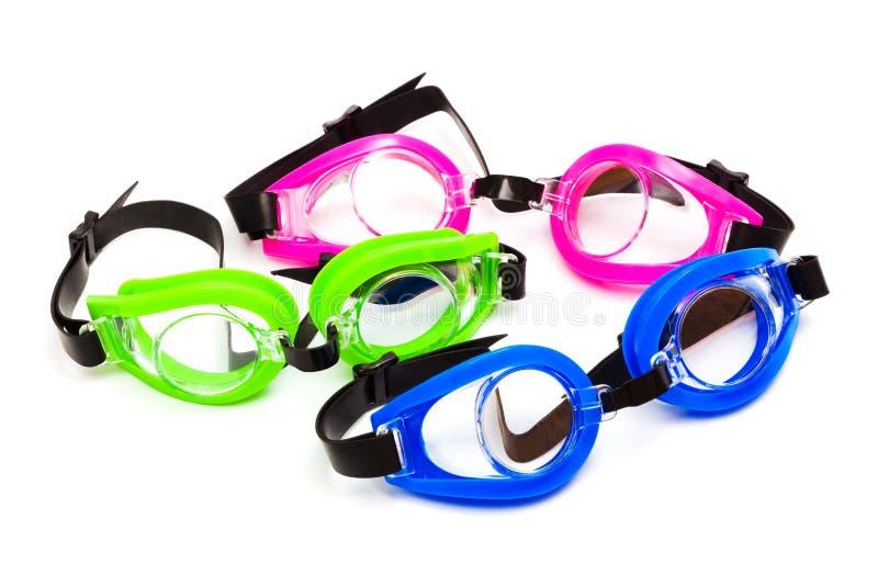 Óculos de proteção para a natação fotos de stock royalty free