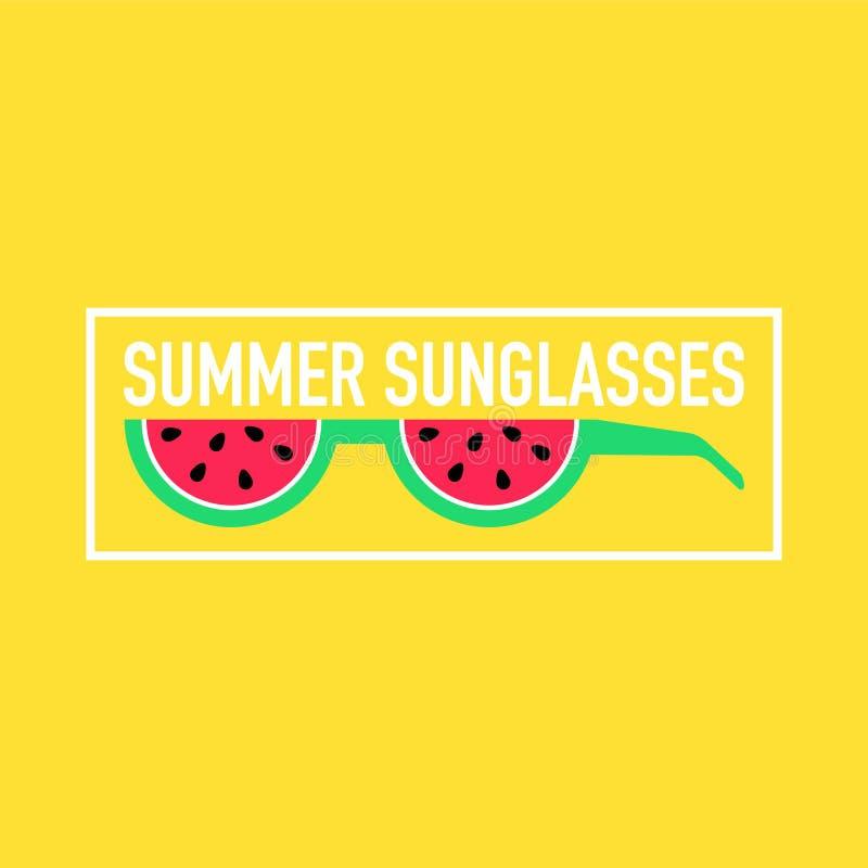 Óculos de sol épicos do verão feitos fora dos frutos ilustração royalty free