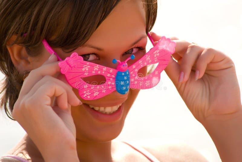 Óculos de sol cor-de-rosa imagem de stock
