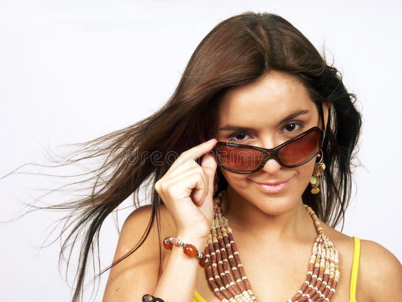 Óculos de sol da mulher. imagem de stock royalty free