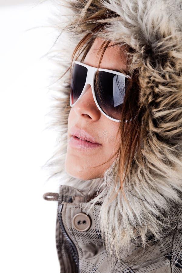 Óculos de sol desgastando italianos do modelo de forma fotos de stock