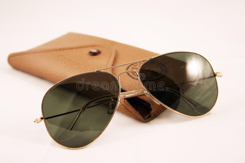 Óculos de sol do aviador do vintage fotografia de stock royalty free
