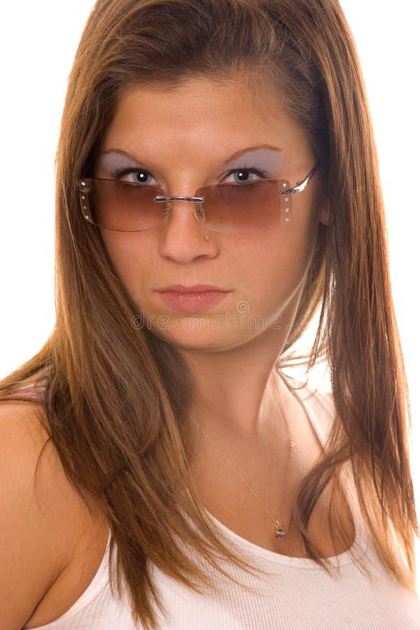 Óculos de sol e atitude foto de stock