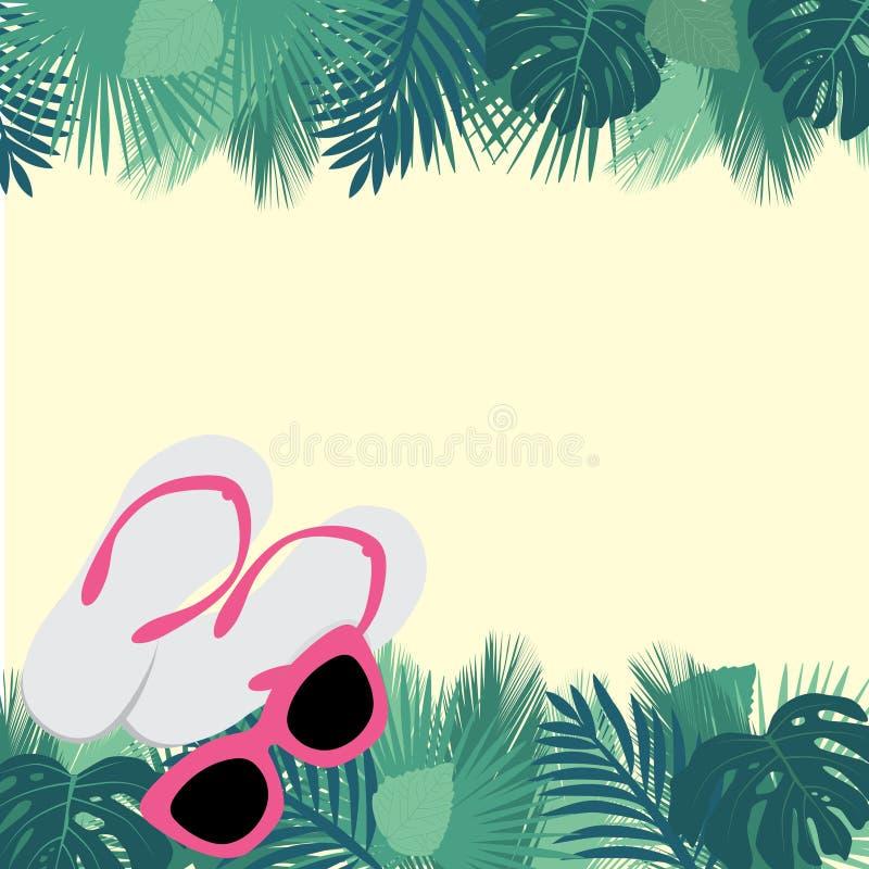 Óculos de sol e flip-flops ilustração royalty free