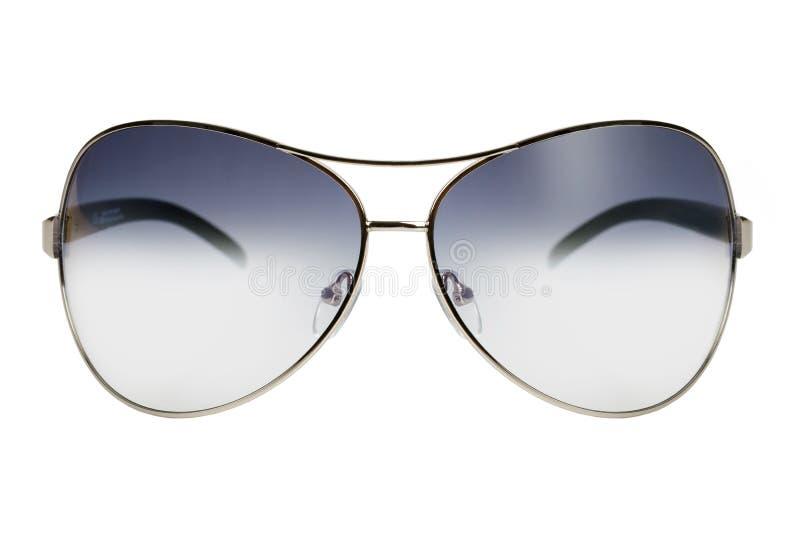 Óculos de sol em uma borda fina do metal imagem de stock