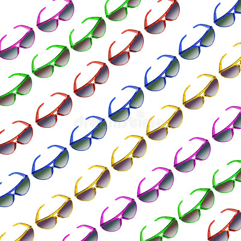 Óculos de sol na repetição imagem de stock