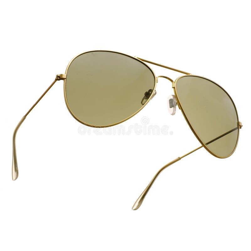 Óculos de sol no branco fotografia de stock
