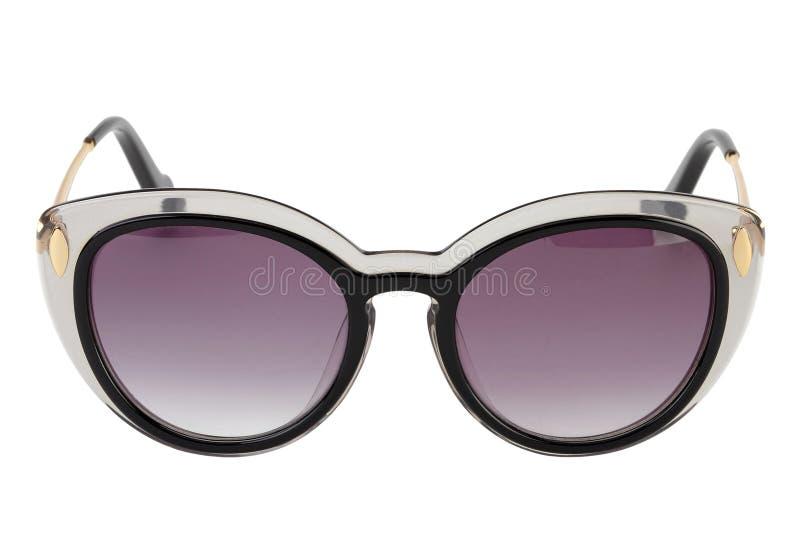 Óculos de sol pretos isolados imagens de stock royalty free