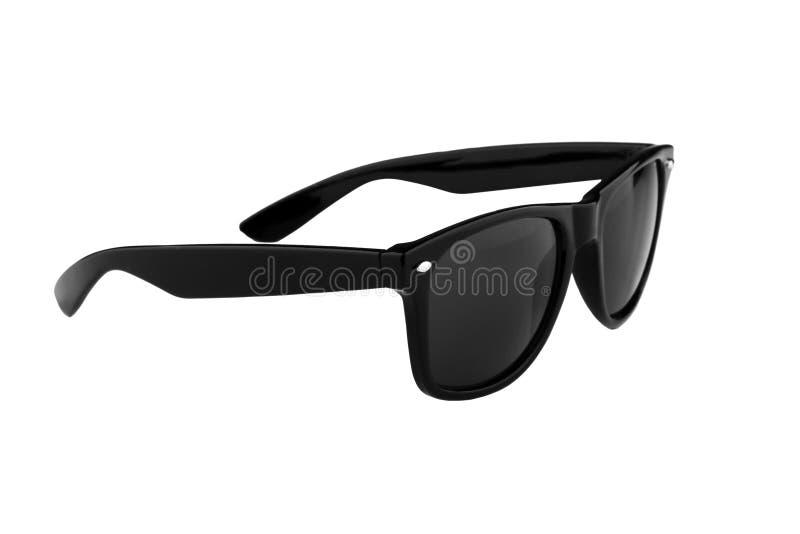 Óculos de sol pretos isolados no branco foto de stock royalty free