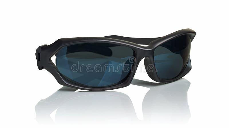 Óculos de sol pretos plásticos foto de stock royalty free