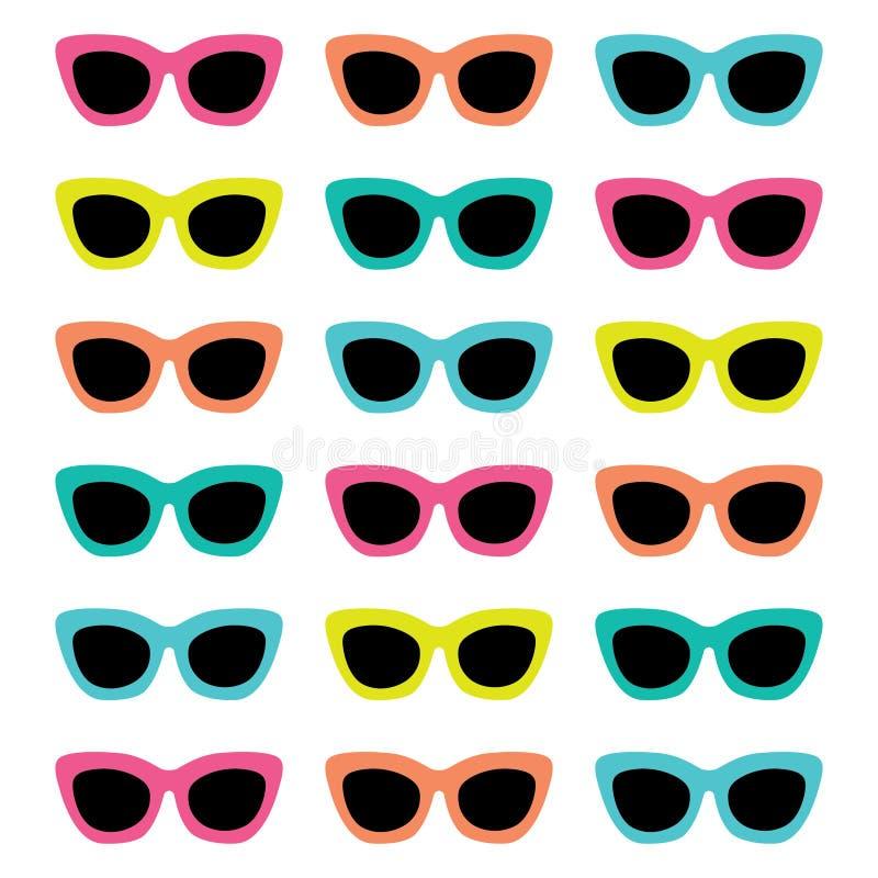 Óculos de sol retros ilustração royalty free
