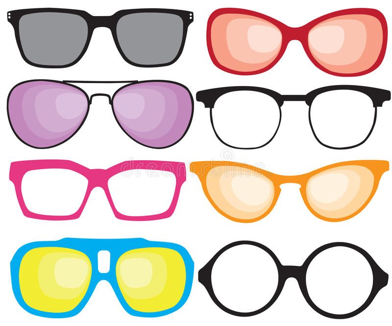 Óculos de sol retros ilustração do vetor