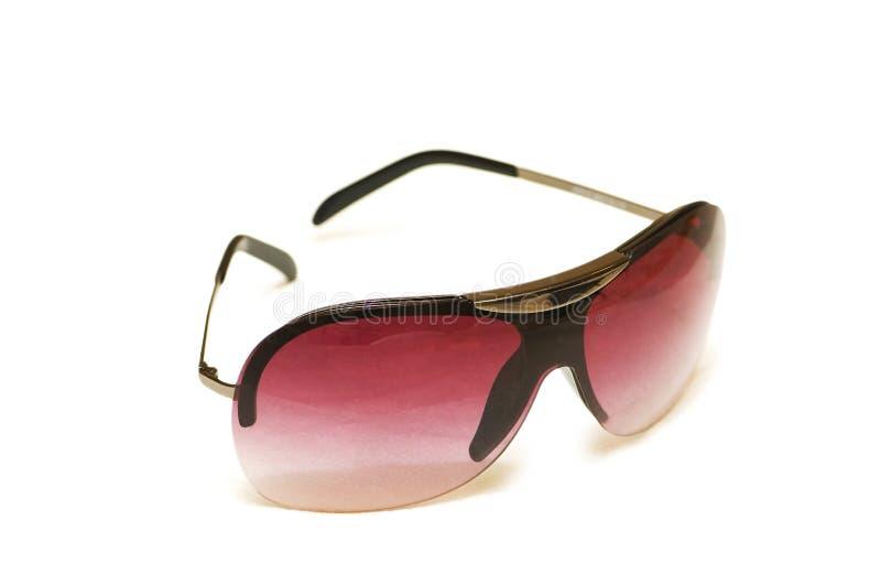 Óculos de sol vermelhos isolados fotos de stock