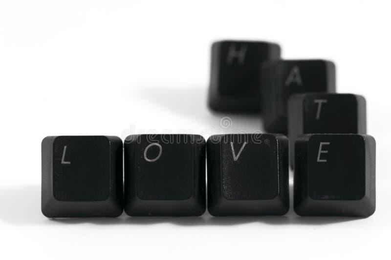 Ódio do amor fotos de stock