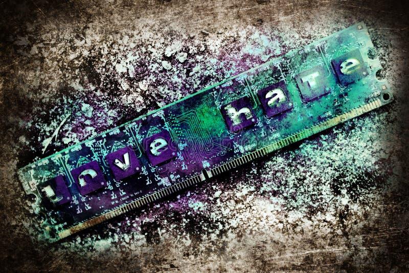 Ódio do amor imagens de stock