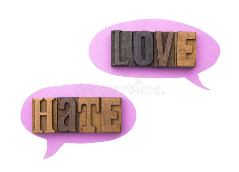 Ódio e amor imagem de stock